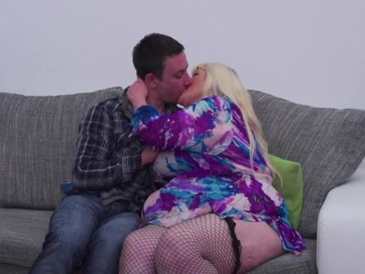 Mature BBW mother seduce lucky son