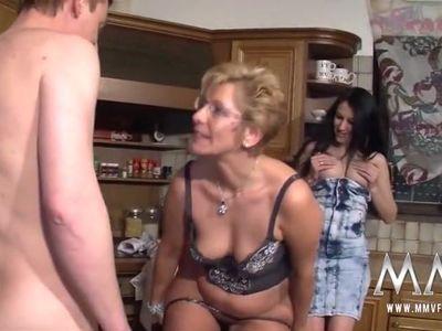 German Teen Assists Mature Couple