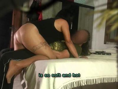 (subtit) hide cam Milf Stepmom blackmail & fuck Stepson, father is calling