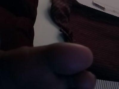 Ebony toes sleeping