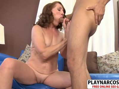 Great Step Mom Carolyn Khols Ride cock Hard Teen Son's Friend