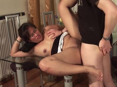 Mature Asian Housewife On The Table