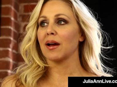 Mega Milf Julia Ann Finds Out Boy Toy Wearing Her Panties!