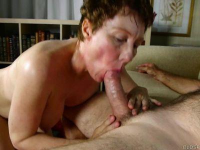 Super sexy old spunker sucks &amp, fucks for a mouthful of cum