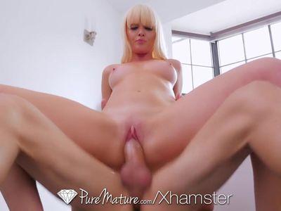 PureMature Blonde MILF Marie Mc Cray fucked in the bath
