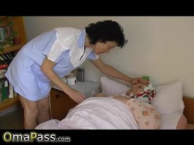 OmaPasS Fatty Grandma is Playing with Doll
