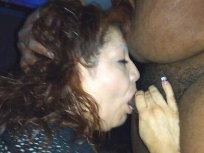 Rae taking a cum shot from a BBC 2018