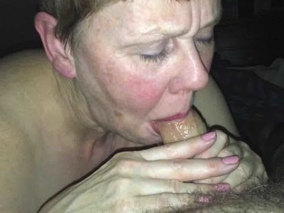 Useless beth H sucks her Master',s cock and swallows