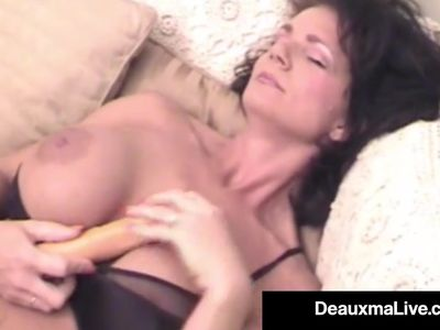 elicious Texas Milf Deauxma Dildo Bangs Her Pussy &amp, Asshole