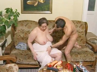 German BBW Granny Loves Young Dick