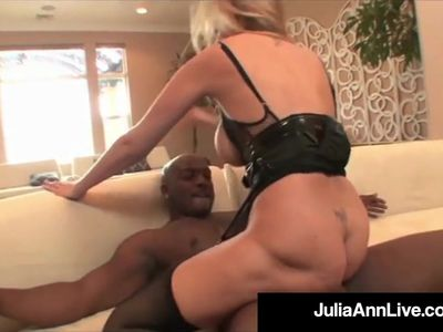 Mega Milf Julia Ann Does Interracial Monster Facial &amp, Anal!