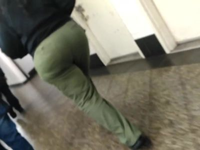 Thick ass mature booty meat candid in subway, pt.2