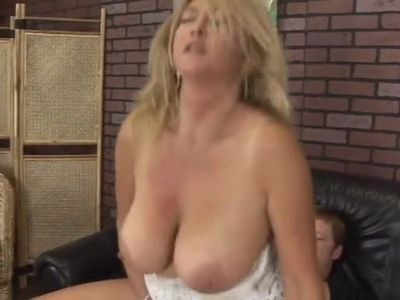 Mature cheating her husband with a young cock