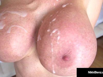 Penthouse Pet Nikki Benz Blows &amp, Bangs 2 Big Squirting Cocks