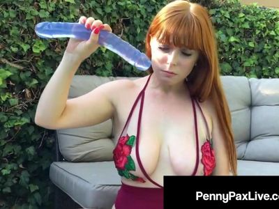 Horny Redhead Penny Pax Squirts But Can&#039,t Stop Masturbating!