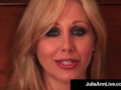 Busty Blonde Milf Julia Ann Smokes A Cig &, Plays With Pussy!