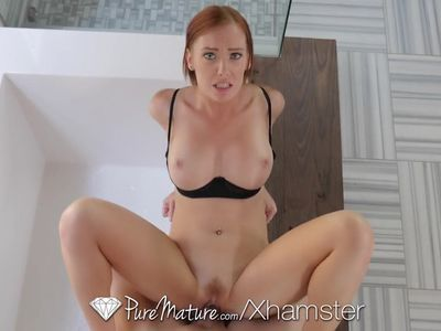 PureMature Huge breasted red head MILF Dani Jensen fucked
