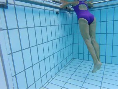 mature at pool