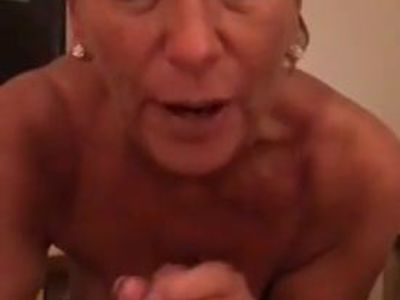 Great tits milf blowjob