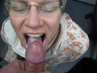 granny swallows cum like a good slut