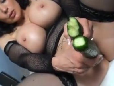 Cucumbers as dildos