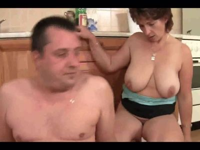 Mature First Time in Kitchen