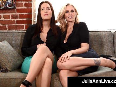 Femdom Milf Julia Ann &amp, Kimberly Kane Make You Submit Sissy!