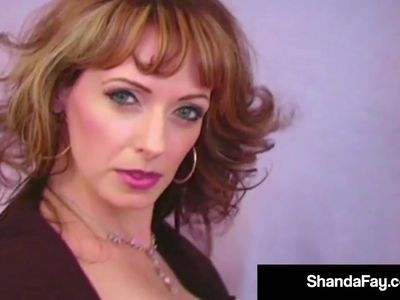 Canadian Cougar Shanda Fay Bangs Her Cunt With Purple Dildo!