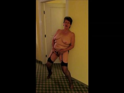 Granny Standing masturbating Part 1