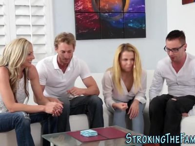 Teen stepsis cum sprayed