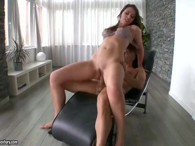 Anal loving MILF in high heels gets her ass and throat fucked