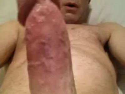 showing and wanking my hard erect cut cock close up naked male