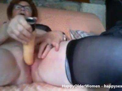 Having fun on skype with pervert granny. Amateur older