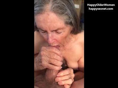 Granny drinks it all. Amateur older