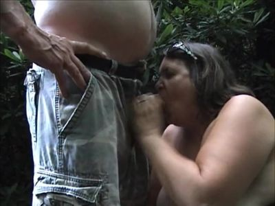 Laura at the park with mouthful of cock and cum