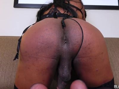 Reupload. ..Tranny squirting a fat nut