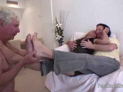 Cuckhold foot slave englishman
