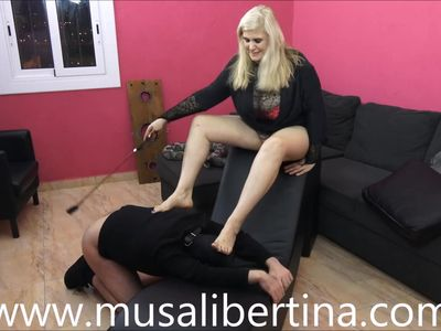 FemDom Games: footjob and humiliation