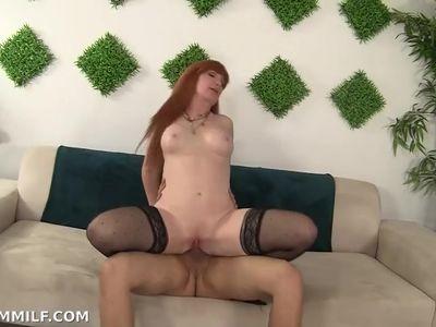 Redhead MILF Dirty Talk Fuck