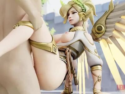 mercy the goddess of fuck gives a lucky nerd a reward ha sound