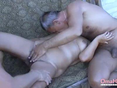 OmaHoteL Hot Grandma Enjoying Sexual Life
