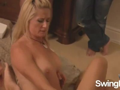 Spoiled mature swingers going lesbian together