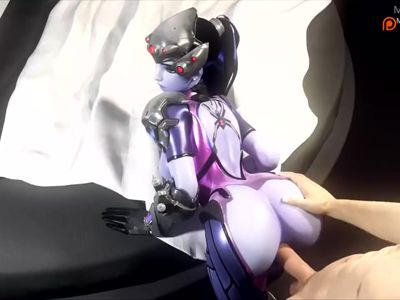 Amelie lacroixwidowmaker give's a lucky nerd a after game fuck has sound