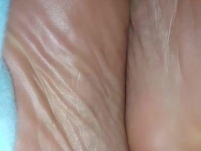 Lesbian friend sleeping feet pt 2