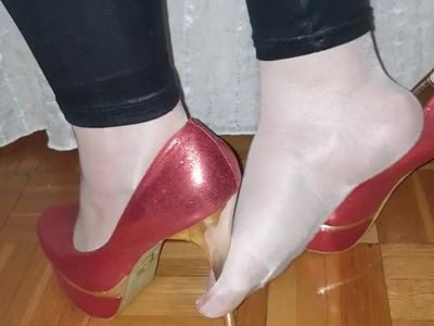 Hot mature nylon feet