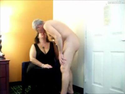 Older couple banging