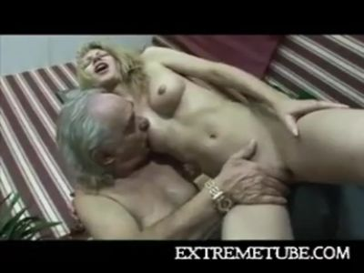 Armless old man fucking chick