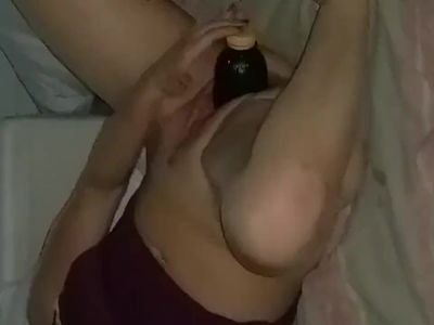 Bottle open the pussy of my wife