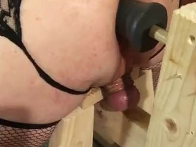 Fucking and fingering my ass in a French Maid outfit