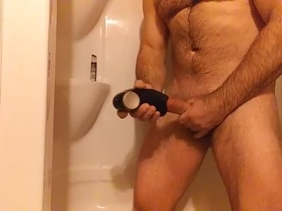 Morning shower with toy